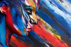 Arte corporal da cor da beleza da forma Fotos de Stock Royalty Free