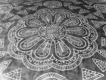 Arte creativa de Handpainting no Street-Rangoli3 Fotos de Stock Royalty Free
