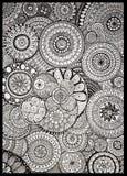 Arte criativa do círculo do teste padrão de Zendoodle fotos de stock royalty free