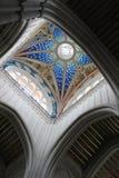 Arte cristiana nel cupole del tetto della cattedrale di Almudena a Madrid, Spagna Fotografie Stock Libere da Diritti