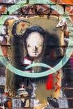 Arte d'annata della parete dei graffiti, Londra Regno Unito royalty illustrazione gratis