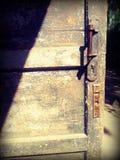 Arte d'annata della porta di estate vecchia Fotografia Stock