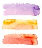 Arte da aquarela da cor do fundo isolada Fotos de Stock