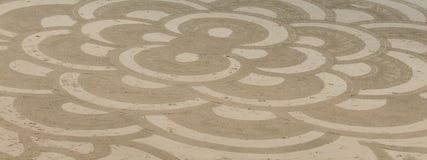Arte da areia da praia do oceano Imagem de Stock Royalty Free