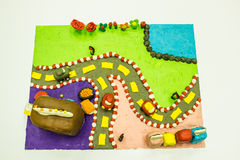 Arte da argila colorida Foto de Stock