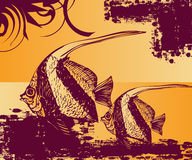 Arte da associação dos peixes Fotos de Stock Royalty Free