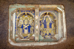 Arte da Bíblia na igreja de Ura Kidane Mihret Fotografia de Stock