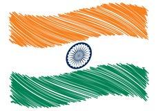 Arte da bandeira de India Imagens de Stock
