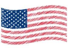 Arte da bandeira dos EUA Foto de Stock Royalty Free