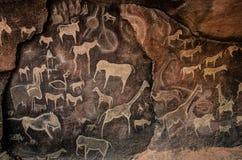 Arte da caverna imagens de stock