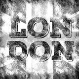 Arte da cidade de Londres Estilo do gráfico da rua de Inglaterra Cópia à moda da forma Fato do molde, cartão, etiqueta, cartaz em ilustração stock