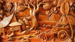 A arte da cinzeladura de madeira Fotos de Stock Royalty Free