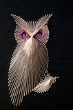 Arte da corda da coruja Imagem de Stock Royalty Free