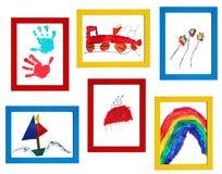 Arte da criança Foto de Stock Royalty Free