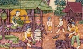 Arte da cultura tailandesa fotografia de stock royalty free