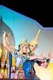 A arte da dança de Tailândia chamou o âKhonâ Fotografia de Stock