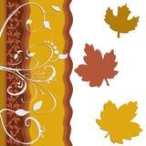 Arte da decoração da folha da folha Imagem de Stock