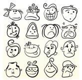Arte da emoção do Doodle ilustração do vetor