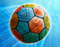 Arte da esfera de futebol do futebol Foto de Stock Royalty Free