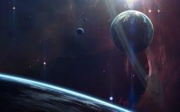 Arte da ficção científica Beleza do espaço profundo Elementos desta imagem fornecidos pela NASA fotografia de stock royalty free
