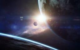 Arte da ficção científica Beleza do espaço profundo Elementos desta imagem fornecidos pela NASA foto de stock