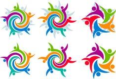 Logotipos da coleção dos pares Fotografia de Stock