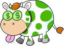 Arte da ilustração do vetor da vaca de dinheiro Imagem de Stock Royalty Free