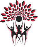 Logotipo da árvore dos pares Imagem de Stock