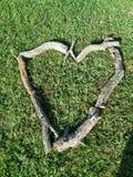 Arte da lenha em meu gramado Fotos de Stock
