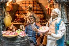 A arte da natividade napolitana de S Gregorio Armeno fotos de stock royalty free