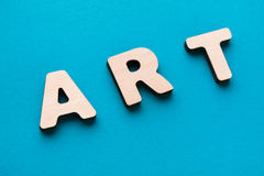 Arte da palavra no fundo azul Foto de Stock