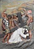 Arte da parede da crucifica??o de Jesus Christ foto de stock