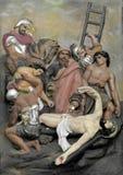 Arte da parede da crucifica??o de Jesus Christ imagens de stock royalty free