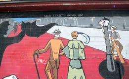 Arte da parede da cidade, Nashua, New Hampshire fotos de stock royalty free