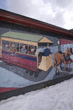 Arte da parede da cidade, Nashua, New Hampshire Imagens de Stock Royalty Free