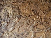 Arte da parede do templo tailandês Foto de Stock Royalty Free
