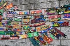 Arte da parede na vila da cultura do gamcheondong Fotos de Stock