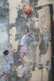 Arte da parede da rua de Penang fotografia de stock royalty free