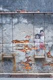 Arte da parede da rua de Penang foto de stock royalty free