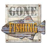 Arte da pesca andata del segno fotografia stock libera da diritti