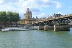 Arte da ponte em Paris, França Fotografia de Stock