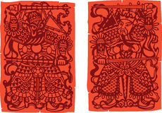 Arte da porta - deus da porta ilustração royalty free