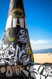Arte da praia de Veneza fotos de stock