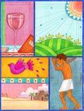 Arte da páscoa judaica Imagem de Stock