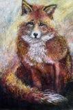 Arte da raposa vermelha Foto de Stock Royalty Free