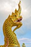 A arte da religião da estátua da cabeça do Naga Imagem de Stock Royalty Free