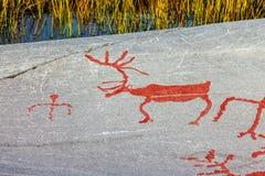 Arte da rocha de Alta Fotografia de Stock Royalty Free