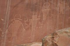 Arte da rocha de Fremont Fotografia de Stock Royalty Free