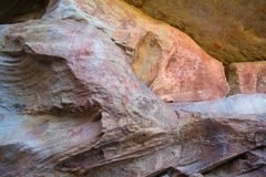 Arte da rocha de San em montanhas África do Sul de Cederberg Fotos de Stock