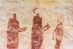 Arte da rocha de San em montanhas África do Sul de Cederberg Foto de Stock